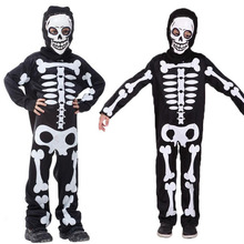 Kids Skeleton Cosplay Costume For Boy Masquerade Halloween Costume for Kids Skull Skeleton Ghost Clothes Screaming Costume