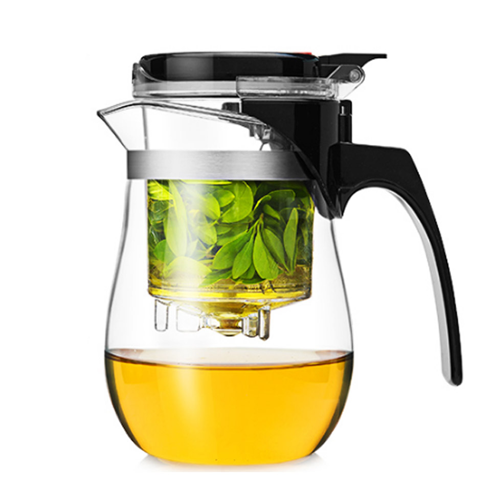 BORREY Heat Resistant Glass Teapot With Infuser Filter Chinese Kung Fu Puer Oolong Tea Teapot 500Ml Kamjove Tea Pot Water Kettle 7