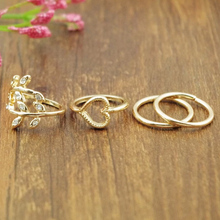 4Pcs/Set Women Party Rings Top Of Finger Over The Midi Tip Finger Above The Knuckle Open Ring Gold/Silver jewelry