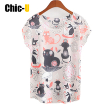 women summer t shirt cotton kawaii bts black cat kitty zoo print tumblr funny tee shirt women tops big sizecute poleras de mujer