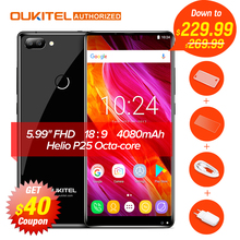"Oukitel MIX 2 Android 7.0 4G Mobile Phone Helio P25 Octa-core 6G+64G 5.99"" FHD 18:9 Display 4080Mah Fingerprint ID Cellphone(China)"
