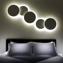 DIY Solar eclipse Aluminum LED Wall Lamps round wall lights for living room bedroom decoration Lighting(China)