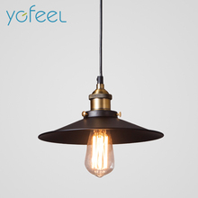 [YGFEEL] Pendant Lights Vintage Industrial Retro Pendant Lamps Dining Room Lamp Restaurant Bar Counter Attic Lighting E27 Holder(China)