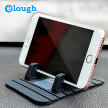 Elough Universal Car Holder Mobile Phone Stand Bracket Support GPS iPhone Samsung Xiaomi Sony Soft Silicone - Cable Shop store