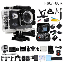 HuaGuo F60/F60R Action camera 4K/30fps 16MP WiFi 170D Helmet Cam underwater go waterproof pro Sports camera hero 4 style