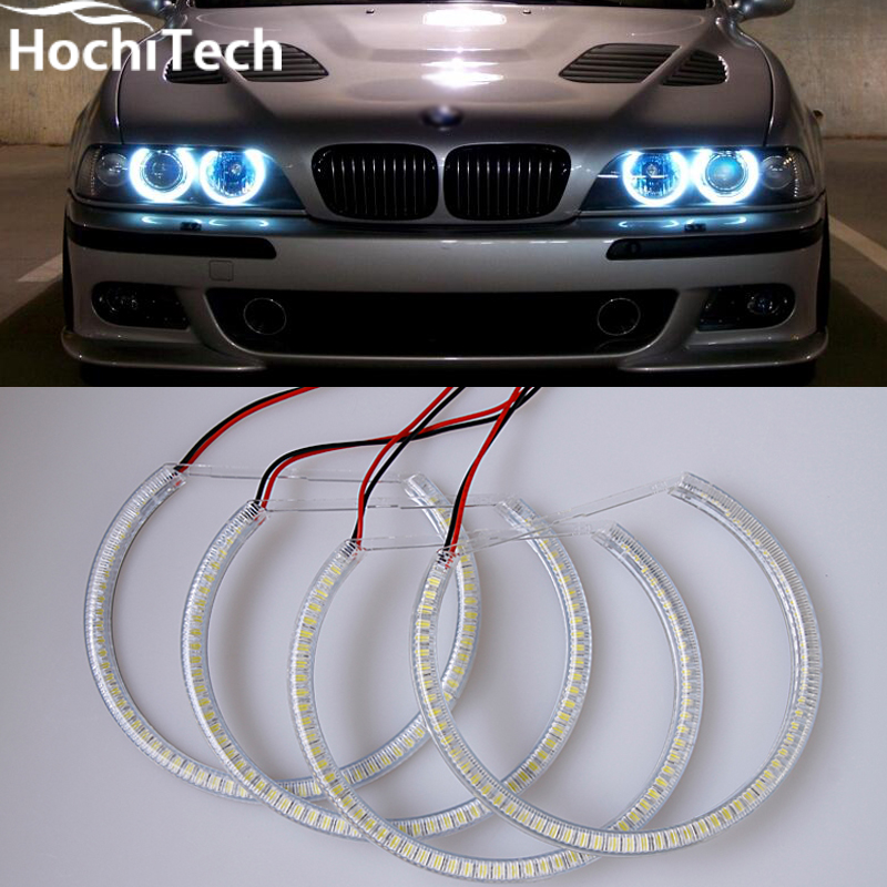 Ultra bright SMD white LED angel eyes 1600LM 12V halo ring kit For BMW E36 E38 E39 E46<br>