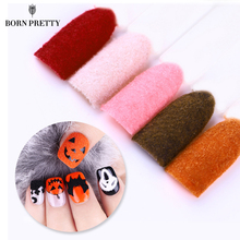 Fuzzy Flocking Christmas Velvet Nail Glitter Powder Colorful Dust For Manicure DIY Nail Art Tips Decoration 15 Colors