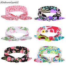 Naturalwell Baby Girl Top Knot Headband Kids Turban Child Girls Headwrap Knotted Head wraps head tie baby shower gift HB537