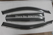 US Shipping  Side Window Visor Vent Shade Rain/Sun/Wind Guard Deflectors for Kia Sorento 2014 2015