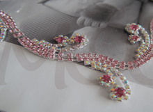 Gorgeous Pink 888 Crystal Rhinestone Trimming Chain DIY Craft Embellishment