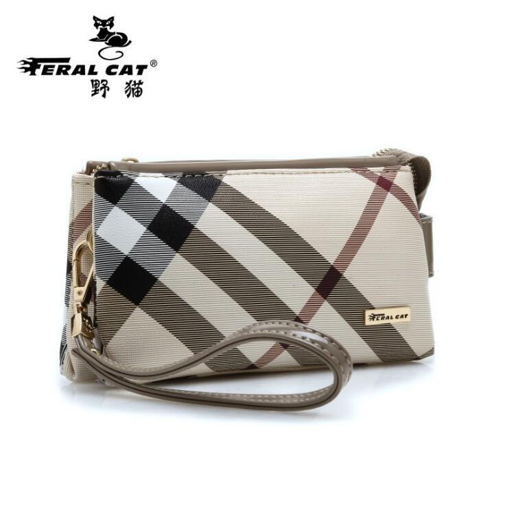 FERAL CAT Brands Women Handbags Fashion Leather Plaid Handbags Women Famous Brands Women Casual Handy Bags Ladies Bag FC-9010#<br><br>Aliexpress
