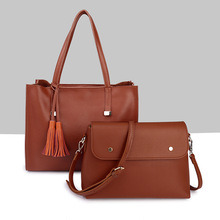 Popular Women Brand Handbags Genuine Leather Composite bags High Quality Second Layer Cowhide Leather Designer Shopping Totes(China)