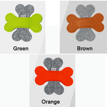 Newest Bone style Pet Dog Flying Felt cloth Training Fetch Toy Play Frisbee Levert 3 Colors(China)