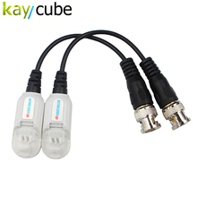 Kaycube HD BNC To UTP Cat5/5e/6 Video Balun HD Transceivers Adapter Transmitter Support 720P/1080P,AHD/CVI/TVI Camera(China)