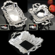 Hot Sell New European Metal Plate With Silver Disc The Wedding Of Furniture Display Rather Tray(China)