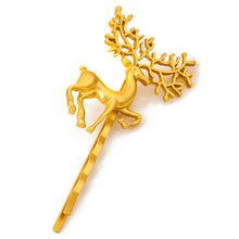 12 PCS Fancy Fashion Hair Accessories Gold Color Metal Antler Hair Clip Punk Deer Hair Barrette For Women Girls(China)