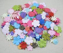 Lucia crafts 100pcs Approx 17-27MM random mixed colors Paper petals Daisy Flowers scrapbooking die cut for sticker D027016002(7)