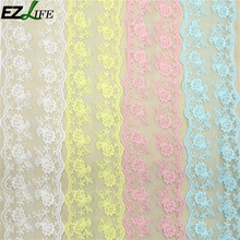 1 yard White High Quality Lace Ribbon Embroidered Net Lace Trim Fabric For Wedding Decoration By Best Price LQW1635