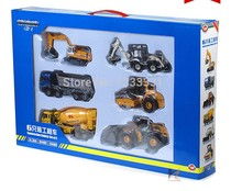 kaidiwei high quality alloy Engineering Vehicle model children toy cars gift box 6pcs per set 1:50 truck series set(NO BOX)(China)