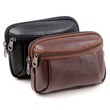 Men's Faux Leather Waist Bag Mobile Phone Holder Fanny Waist Pack Pouch  BVTR