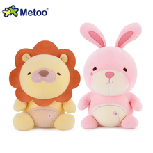 Original Metoo high quality plush cuddly toys Panda,rabbit,teddy bear,lion soft stuffed dolls for girls and boys baby toys gifts(China)