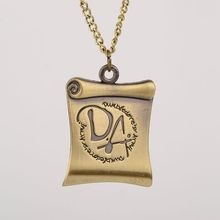 Hot Selling Movie Necklace bronze color Letter DA Reel Film Pendant Necklaces for men women fans(China)