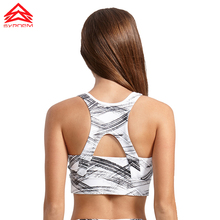 SYPREM Sports Bra 2017 Fitness Bronzing pattern Sports bra top Shockproof Shapes Quick dry Run top Yoga bra sports top,1FT0022(China)