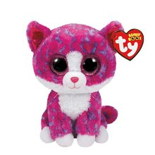 "Pyoopeo Ty Beanie Boos 6"" Charlotte Cat Boo Beanie Baby Plush Stuffed Doll Toy Collectible Soft Toys Big Eyes Plush Toys"