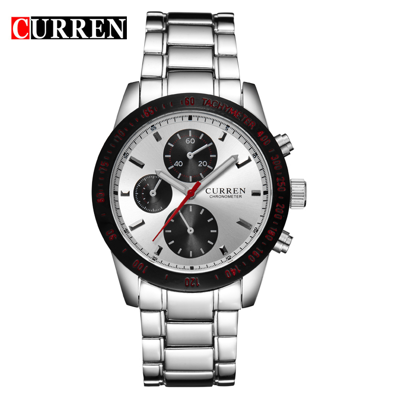 High Quality Curren Black Stainless Steel Mens Watch Famous Brand Man Wristwatches Male Chronometer Reloj Hombre Hot Sale Clocks<br><br>Aliexpress