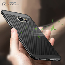 RUZSJ heat dissipation phone hard Back PC Case for samsung galaxy s6 edge s7 edge s8 plus back cover matte Protect shell