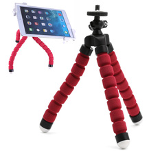 Universal Mini Portable Flexible Sponge Octopus Tripod Bracket Stand Mount Monopod + Phone Holder For Gopro Camera DSLR Mount