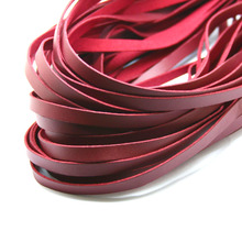 Burgandy 1M 8mm Flat Faux Suede Korean Velvet Leather Cord string Rope Thread Jewelry Findings