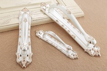 Royal European Pearl White Entrance Gate Door Handle Pull With Screws Closet Bedroom