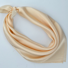 Plain Small Square Silk Scarf 53*53cm Hot Sale Women Crepe Satin Silk Scarves Spring Summer All-Match Ladies Pure Silk Scarves