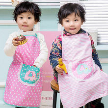 Fashion Children Kids Plain Apron Kitchen Cooking Baking Painting Cooking Art Bib Hot