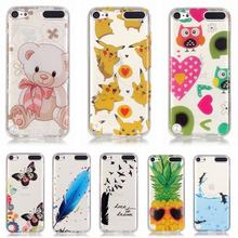 For Coque iPod Touch 6 touch5 Cases Transparent Clear covers For iPod Touch 5 6 TPU Case Soft Thin Cover Cute Cartoon back shell