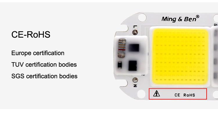 [MingBen] LED COB Lamp Chip 5W W 30W 50W 2V Input Smart IC Driver Fit For DIY LED Floodlight Spotlight Cold White Warm White 15