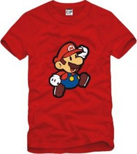 Super mario t-shirt lovers t shirt for couples short-sleeve tshirt super mario bros tee shirt trend loose mens clothing GC129