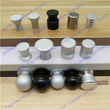 Dia. 16mm/18mm/20mm/22mm Single hole sand silver color space aluminum Kitchen Furniture bedroom drawer knob pulls