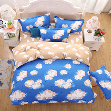 UNIKEA New Bedding Sets Blue sky and white clouds warm Reactive Printing Bed Sheets Quilt Cover Pillow King Queen Full Twin Size