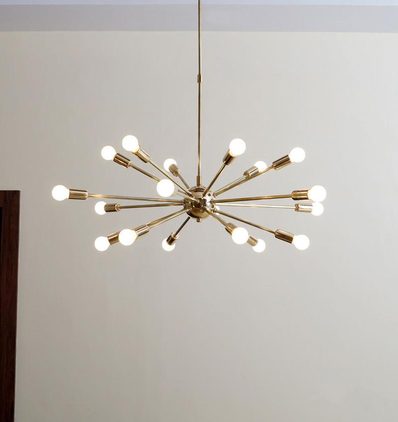... Mid Century Brass Sputnik Chandelier 5 ...