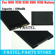 New MS1 MS-1 Li-ion Mobile Phone Battery For BB 9000 9700 9780 8980 9788 Batterie Batterij Bateria , 1500mA