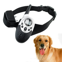 2016Pet Dog 1000M Waterproof Rechargeable LCD Remote Training Collar Electric Shock Control Mascotas Vibrador Anti Free Shipping(China)