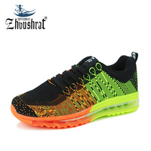 Sneakers Running Shoes For Men Sports Max Cushion Male Shoes Sport Krassovki Flyknit Top Brand 2017 Spring New Sneakers Shoe Man(China)
