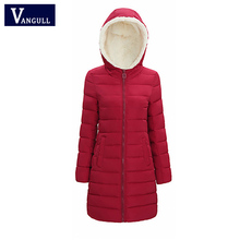 2017 Winter Down Thick Women Winter Jacket faux fur collar Hooded Patchwork Black Red Color Women Parkas Coats Plus size 3XL