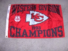 1434 - KANSAS CITY CHIEFS FOOTBALL Indoor Outdoor College Flag 3' x 5' Banner metal holes Custom Flag(China)