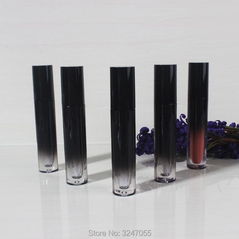 5ML 20pcs/lot 50pcs/lot Shiny Black Gradient Plastic Lip Gloss Tube, DIY Classic Liquid Lipstick Bottle, Portable Beauty Tool<br>