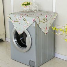 Dust Cover Folding Dust Proof Kitchen Washing Machine Flower Home Decor Supply 55*130cm 1PC(China)
