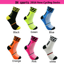 2016 New Men's women's Cycling Socks Crew Bike bicycle Sports Footwear 6 Colors Yoga Soccer France Euro Cycling Socks