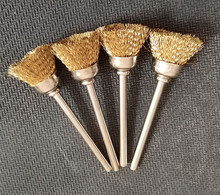 10pcs/lot Bowl 3mm shaped Copper Brushes for Wood/Iron Dust Cleaner for Dremel Rotary Tools/Mini Electric Drill